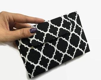 Womens Wallet, Wallets for Women, Credit Card Wallet, Credit Card Holder, Black Wallet, Money Wallet