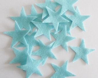 Felt star light blue, 20 pieces, DIY supplies, DIY Wedding, Die Cut Shapes, Applique, Party Supply, Felt supplies