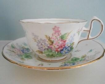 Tea Cup, Vintage Tea Cup, Tea Party, Royal Stafford Vintage Tea cup and Saucer, Bone China, England