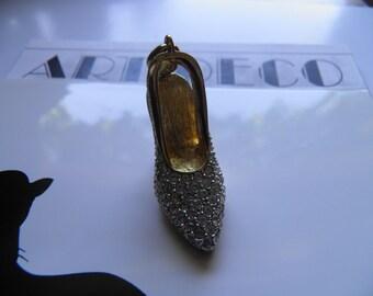 Rhinestone High Heel Pump Charm, Pendant