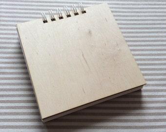 Wooden cover album / set of 2 / blank small album / photo album / scrapbooking album / prints album