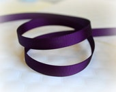"Plum Grosgrain Ribbon. 3/8"" Width. Narrow Grosgrain Ribbon. 5 Yards. No. 285"