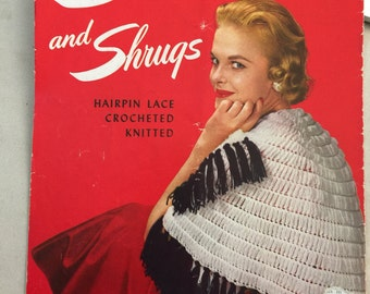 Vintage The American Thread Co. Stoles and Shrugs Pattern Book