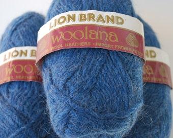 3 skeins Lion Brand Woolana