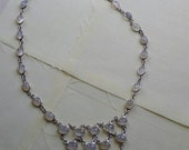 Beautiful Moonstone Cabachons and Silver Necklace