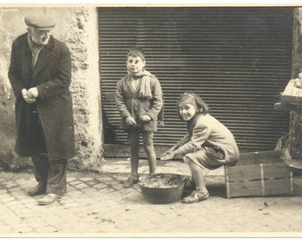 Warming the Heart social realism street scene snapshot vintage original old photograph found vernacular photo
