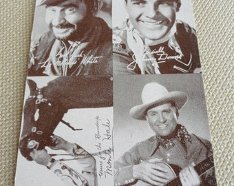 "B982)  Vintage Cowboy Arcade Cards Gene Autry Lee ""Molasses"" White Monte Hale Johnny Downs"
