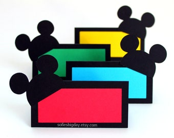 Mickey Place cards-8 Mickey Mouse food tent cards-place cards-food label cards-Mickey Mouse birthday-Mickey Mouse Clubhouse party