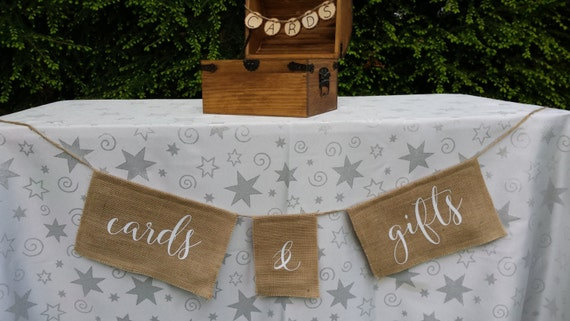 Cards Burlap Banner, Gifts Burlap Banner, Rustic Wedding, Burlap Wedding, Reception Banner, Cards Sign, Gifts Sign, Table Banner