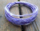 Fiber Wire Core Handspun Art Yarn 24 gauge wire Red Riding Hoods Wolf- Purple Heaven