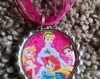 Disney Princess Bottle Cap Necklace