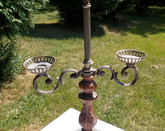 Very UNIQUE CANDLEHOLDER    GOTHIC Art  Nouveau    Scrolled Arms