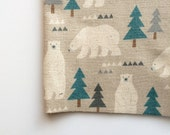 Nordic Bears in Light Gray by Kokka Fabrics, Trefle Nordic Bears
