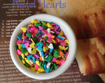 Pastel Jimmies Pink Sprinkles, Ice Cream Sprinkles, Mixed Colors Wedding Sprinkles, Heart Cupcake Sprinkles, Cake Pop Sprinke Princess Party
