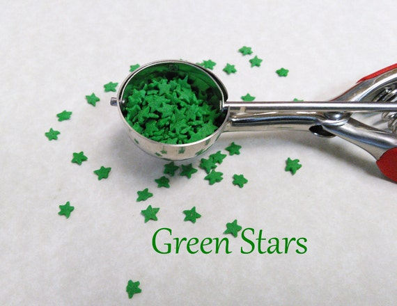 Sprinkles green stars jimmies green decorations cupcake for Decorating quins