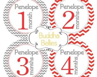 Gender Neutral Baby Month Stickers PERSONALIZED Monthly Baby Stickers Month Baby Stickers Baby Decals Monthly Stickers Baby Boy Baby Girl