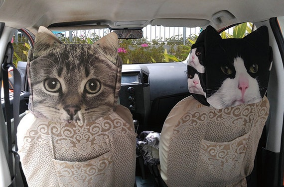 Car Headrest Cover Car Headrest Case Cat Headrest By