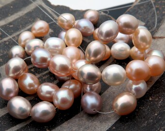 16 AAA Very Fine Freshwater Multi Color 7-7.4mm Pearls 9.8grams