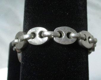 Vintage sterling silver bracelet - 50 grams - 8 inches long