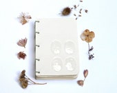 "Porcelain notebook/ herbarium  ""my collected flowers"""
