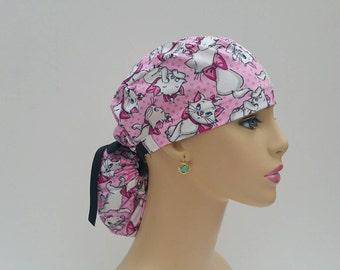 Ponytail Surgical Scrub Cap - The Aristocats  -100% cotton