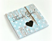 mini note cards baby blue dots barn wood pretty thank you notes Set of 8 handmade mini note cards, envelope style mini cards, gift notes