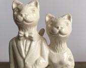 Cat couple Ceramic Wedding Cake Topper