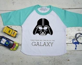 Star Wars boys shirt, Star Wars Birthday Shirt, Personalized Darth Vader T shirt, 18 months - 8 years