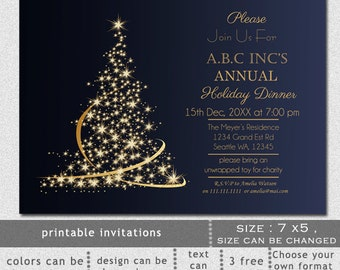 elegant christmas party invitation template