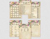 Floral Bridal Shower Game - Bridal Shower Games - Bridal Shower - Instant Download - Shower Game - Floral Bridal Shower - Games - 0001C