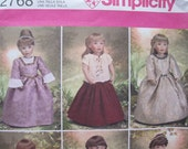 Simplicity 2768 -Sewing Pattern to make 18 Inch Doll Clothes