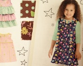 Simplicity 2063 Childs Dresses Sewing Pattern, Easy Girls Dress pattern, Size 3-4-5-6-7-8