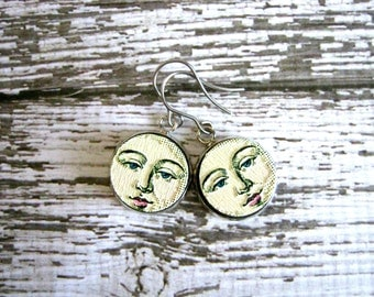 Moon Face Earrings : Detailed Boho Jewelry