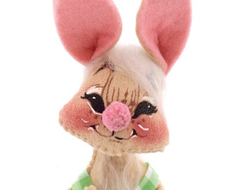 Vintage Annalee Mobilitee Rabbit Doll 1971 Annalee Thorndike, Meredith New Hampshire Collectible Doll, Easter Decor 6 Inch Rabbit Doll
