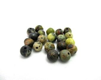 Ocean Jasper Gemstone Beads - 6mm - Round - Loose Beads - Gemstone Beads - Jewelry Making Supplies