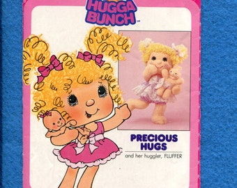 1980's Butterick 3395 Hugga Bunch Soft Sculptured Doll & Baby Size 19 ..8 inch Doll UNCUT