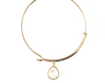 Harper Collection Bangle Bracelet in Crystal