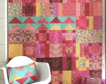 Tula Pink - Tourmaline Flower Market Quilt (TP-FMTKIT) - Tula Pink for Free Spirit - 1 kit
