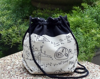 3 in 1 handbag / shoulder bag / crossbody bag ~ Mathematic Formula (A27)