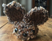 Fuzzy brown chicu mouse OOAK
