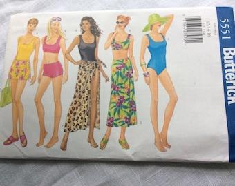 Butterick 5551 swimsuit cover up size 12  14 16 uncut