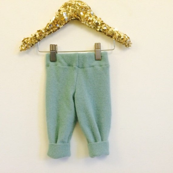 SWEEP 0m Premature Baby Babies Cashmere Trousers Leggings Pants Longies Upcycled Cashmere Newborn Unisex
