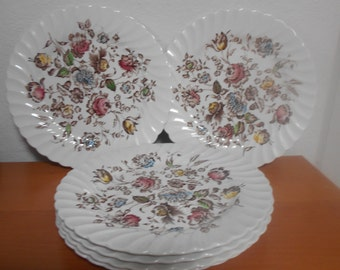 Johnson Brother's Staffordshire Bouquet Dinner Plates Set of 6