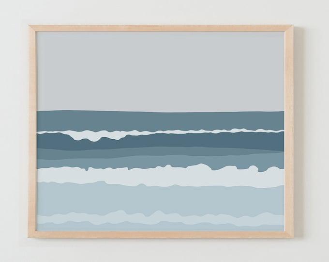 Fine Art Print. Beach Landscape. July 25, 2013.