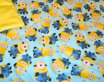Weighted Blanket, Sensory weighted Blanket, Minions weighted blanket, Sensory calming blanket, Kids weighted blanket