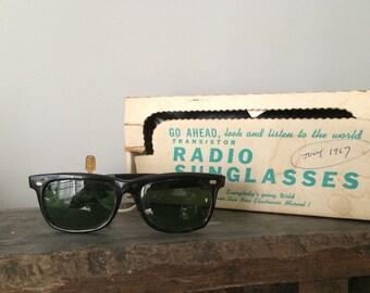 1960's Wayfarer Style Ross Radio Sunglasses