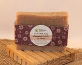 Oatmeal Milk & Honey Goats Milk Soap / Cold Process Soap/Goats Milk Soap/Honey Soap/Oatmeal Soap