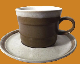Mikasa Stoneware - Country Manor Cup and Saucer - 4 Available