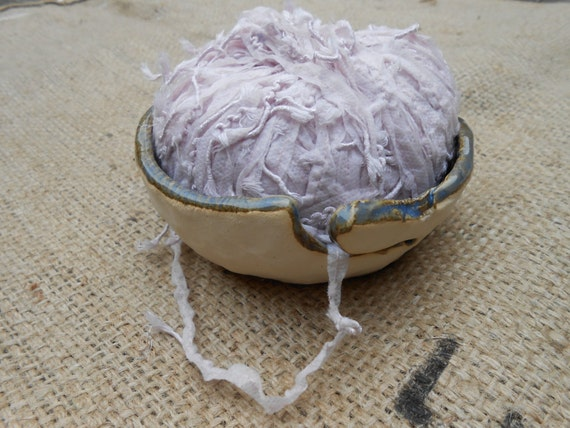 Large Lacy Ceramic Yarn Bowl