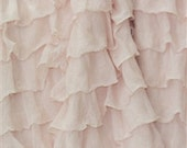 Blush 2 Inch Ruffle Fabric by the Yard Flower Girl Dress Fabric Wedding Fabric